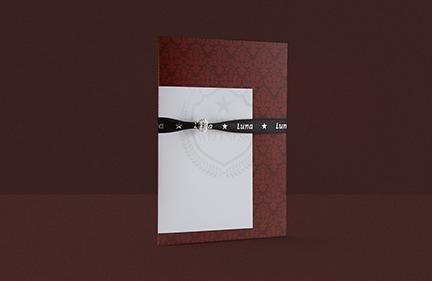 Luna* Einladungskarte<br>Royal Wellness